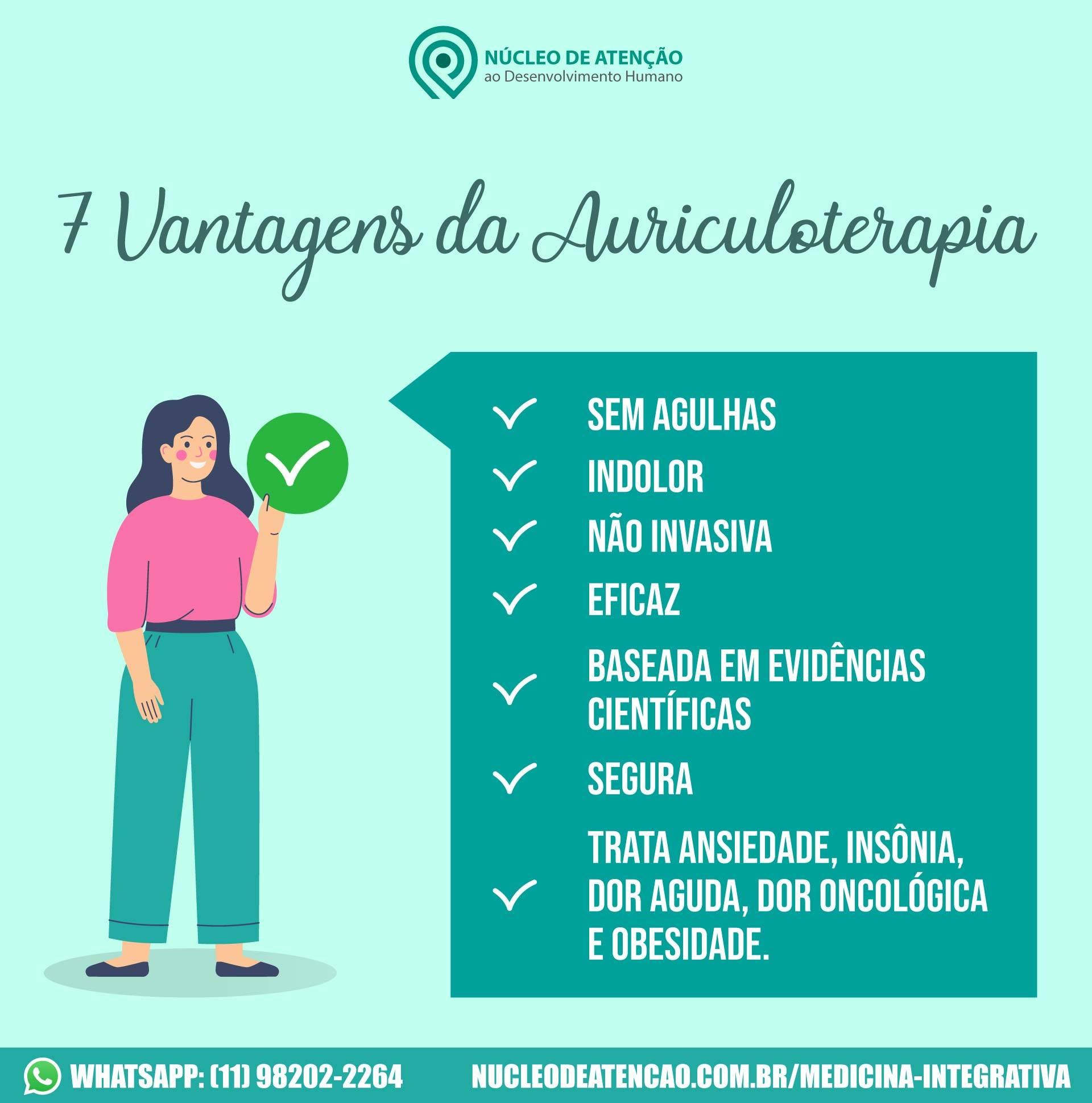 7 Vantagens da Auriculoterapia